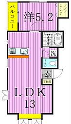 ジュネパレス松戸第126[2階]の間取り