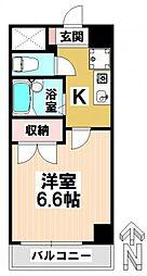 愛知県名古屋市瑞穂区膳棚町1丁目の賃貸マンションの間取り