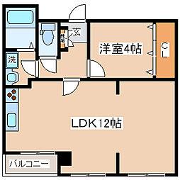 兵庫県神戸市中央区小野柄通3丁目の賃貸マンションの間取り