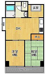 アメニティ武庫之荘[502号室]の間取り