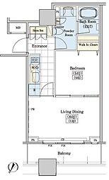 JR山手線 大塚駅 徒歩10分の賃貸マンション 11階1LDKの間取り