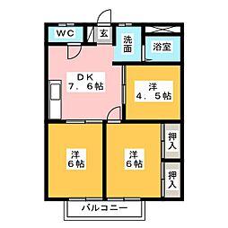 シティハイツヤマキチ[2階]の間取り