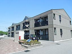 愛媛県東温市北方の賃貸アパートの外観