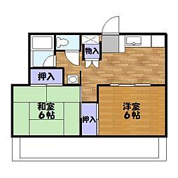 パストラルハイム三鈴[3階]の間取り