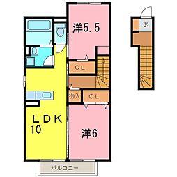 カーミー・芳川B棟[2021号室]の間取り