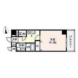 (仮)西大寺南マンション 5階1Kの間取り