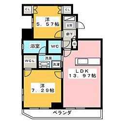 エンブルタワー七間町[12階]の間取り