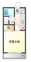 東京都三鷹市牟礼6丁目の賃貸アパートの間取り
