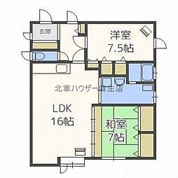 新川1−5住居[2階]の間取り
