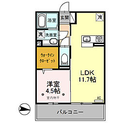 luana〜ルアナ〜[3階]の間取り