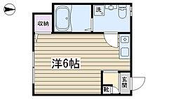 東京都荒川区町屋5丁目の賃貸アパートの間取り