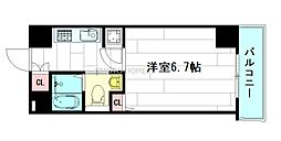 ハピネス江坂[3階]の間取り