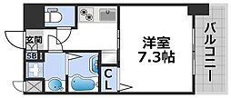 ワールドアイ大阪ドームシティ 9階1Kの間取り
