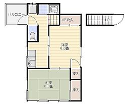 宮武アパート[2F号室]の間取り