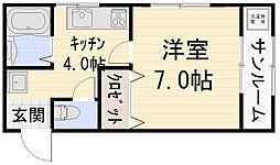 エトワール鈴見[203号室号室]の間取り