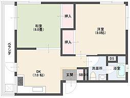 杉山マンション[401号室]の間取り