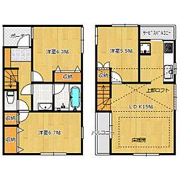 [一戸建] 東京都世田谷区梅丘3丁目 の賃貸【/】の間取り
