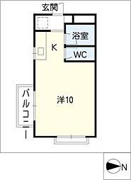 ハウスパインヒルII[1階]の間取り