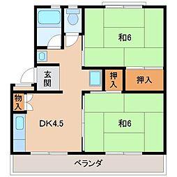 太田団地[3階]の間取り