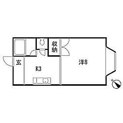 スターハイツ[2階]の間取り