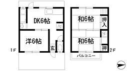 [テラスハウス] 兵庫県川西市西多田2丁目 の賃貸【兵庫県 / 川西市】の間取り
