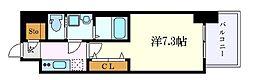 名古屋市営東山線 名古屋駅 徒歩18分の賃貸マンション 5階1Kの間取り