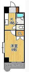 ウインズ浅香I・II[2階]の間取り