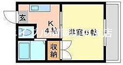 岡山県岡山市南区豊成1の賃貸マンションの間取り