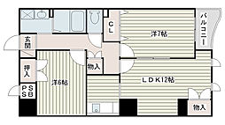 兵庫県姫路市青山西2丁目の賃貸マンションの間取り
