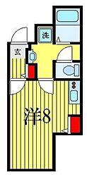 ATORAS MAKUHARI 1階ワンルームの間取り