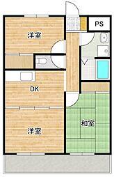 神奈川県藤沢市石川4丁目の賃貸マンションの間取り