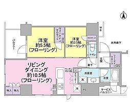 ルネ神田和泉町[10F号室]の間取り