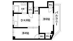 浜田マンション[201号室]の間取り