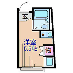 神奈川県横浜市鶴見区上の宮1丁目の賃貸マンションの間取り