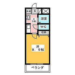 グラウンドスターMI[2階]の間取り