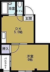 アワーハウス磯路[2階]の間取り