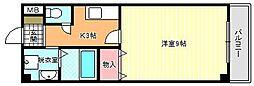 ブルーコート[4階]の間取り