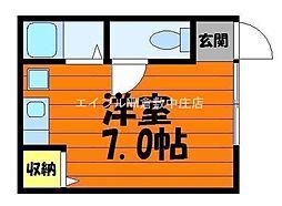 岡山県倉敷市徳芳の賃貸アパートの間取り