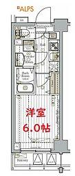 横浜市営地下鉄ブルーライン 阪東橋駅 徒歩9分の賃貸マンション 2階1Kの間取り