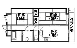 シミズマンション[402号室]の間取り