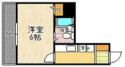 ドミノ石山[302号室]の間取り