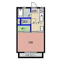 コーポ寺門B棟[102号室]の間取り
