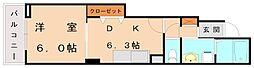 ヴィレッタ新宮[1階]の間取り