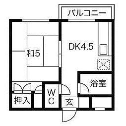 クラークハイツ[5階]の間取り