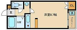 ハイツMISHIMA[2階]の間取り