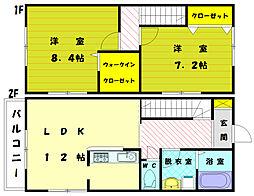 [タウンハウス] 福岡県宗像市三郎丸3丁目 の賃貸【/】の間取り