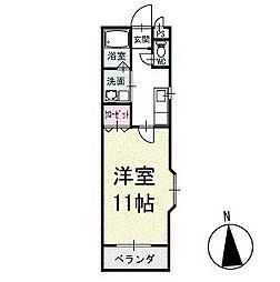グリーンKフラット 2階[201号室]の間取り