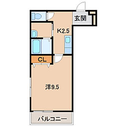 フジパレス新通[3階]の間取り