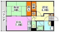 三井ファイン[4階]の間取り