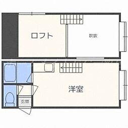 北海道札幌市東区北二十一条東10丁目の賃貸アパートの間取り